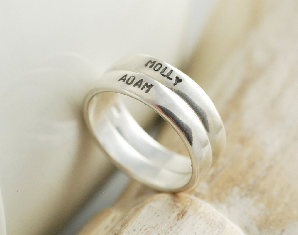 personalized stacking rings womens jewelry gift for
